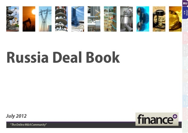 """Russia Deal Book July 2012 """"The Online M&A Community"""""""