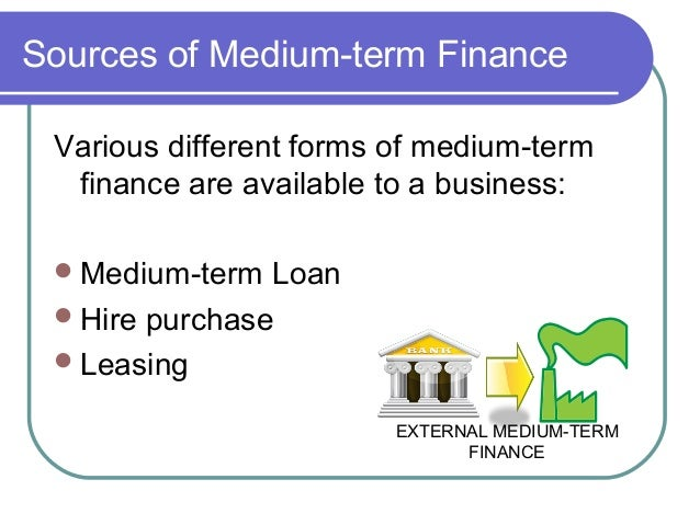 the different types of sources of finance Different types of loan and credit provide various options for consumers and businesses to better manage their financial situation.