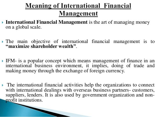 financial environment in financial management