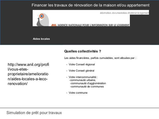 Comment financer vos travaux renovation for Simulation pret foncier