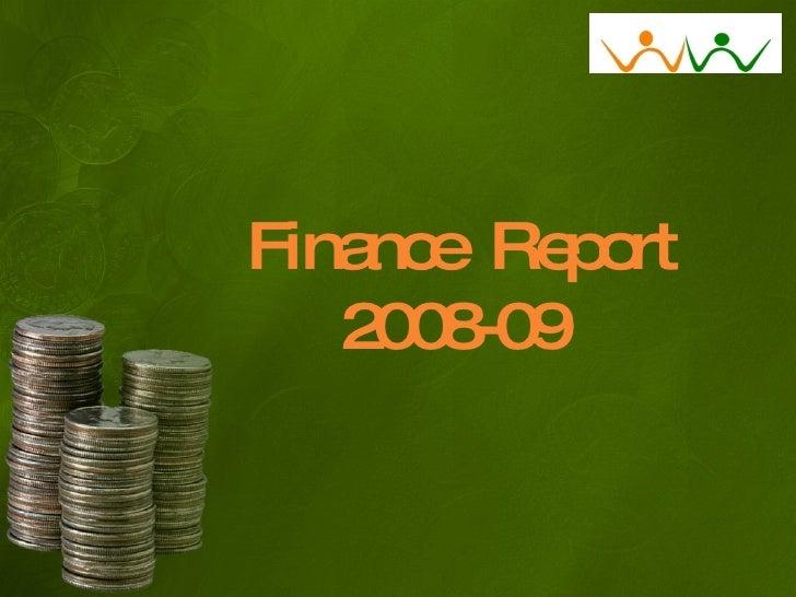 Finance  Report 2008-09