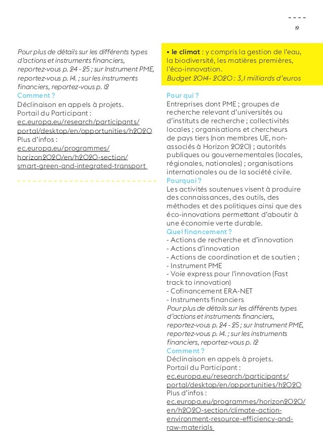 19  Pour plus de détails sur les différents types  d'actions et instruments financiers,  reportez-vous p. 24 - 25 ; sur In...