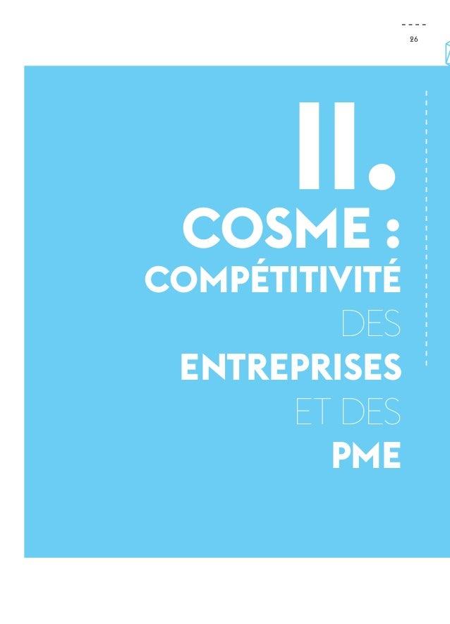 26  II.  Cosme : compétitivité  des  entreprises  et des  PME