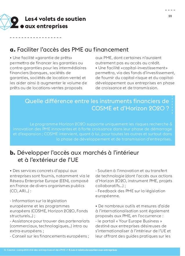 28  • Une facilité «garantie de prêts»  permettra de financer les garanties ou  contre-garanties pour les intermédiaires  ...