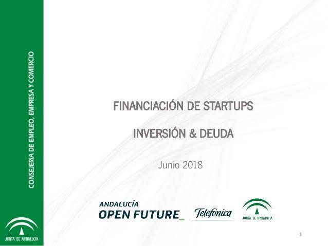 FINANCIACIÓN DE STARTUPS INVERSIÓN & DEUDA Junio 2018 1
