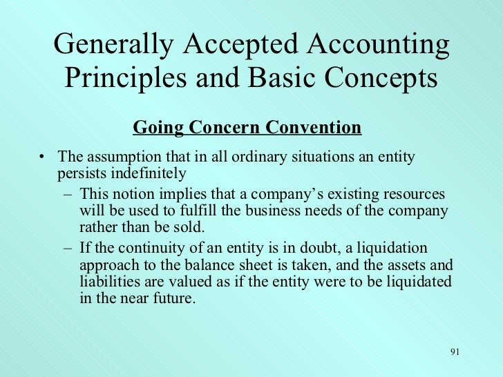 generally accepted accounting principles and future This will become even more important in the united states as the us moves further away from us generally accepted accounting principles (us gaap) and aligns with international financial reporting standards  these accounting guidelines frame the way in which transactions and balances are assessed and reported.