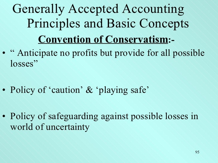 general accepted accounting principles This video is about some beginner's level understanding about generally accepted accounting principles (gaap) the gaap concepts are discussed briefly but cr.