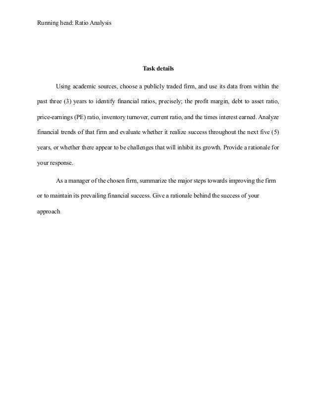 Financial essay example