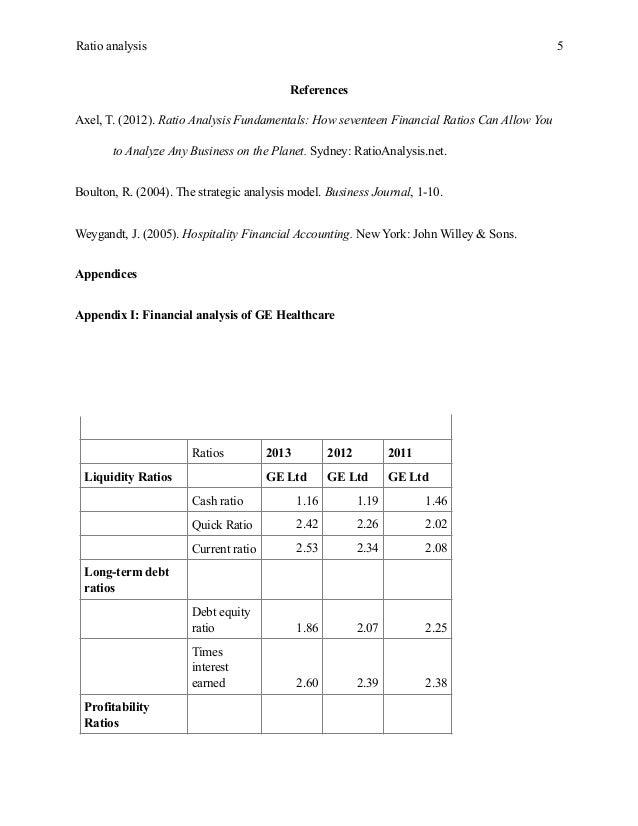 financial essay example 7 ratio analysis
