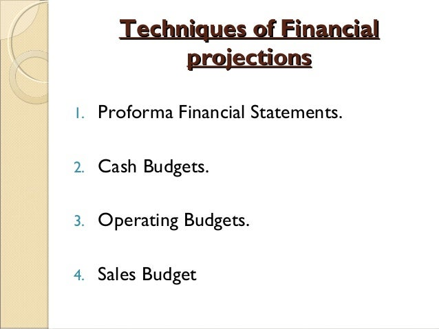 Financial forecasting-planning