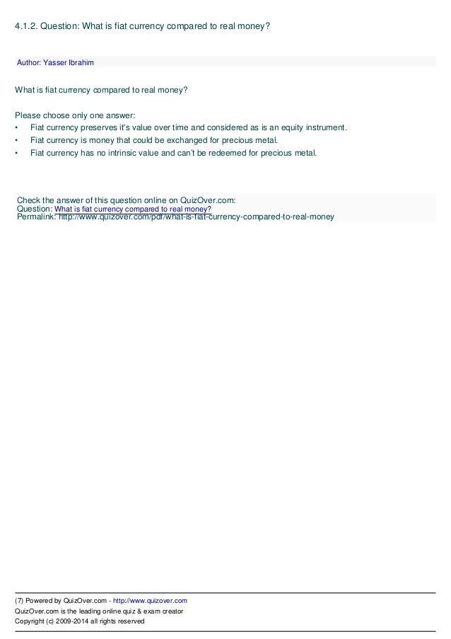Financial Intelligence Quiz