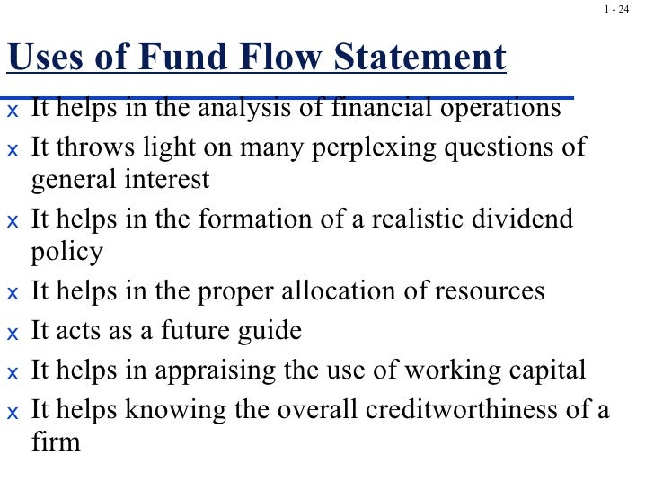 use of fund flow statement