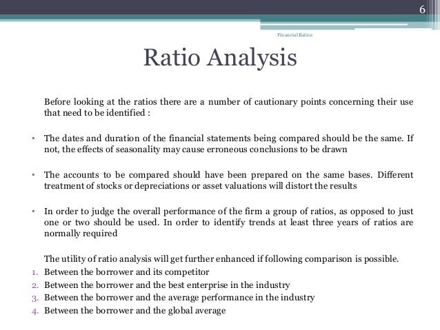 Financial Ratios And Their Use In Understanding Financial Statements