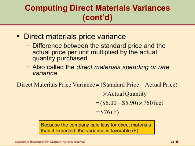 standard costing and variance analysis in management accounting pdf