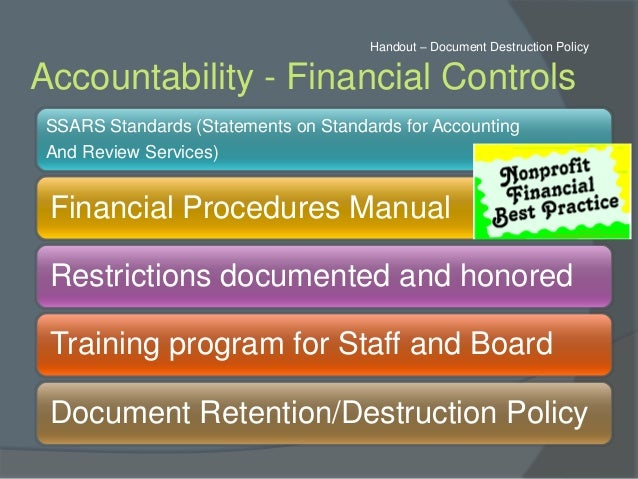 accounting policies and procedures manual for nonprofits