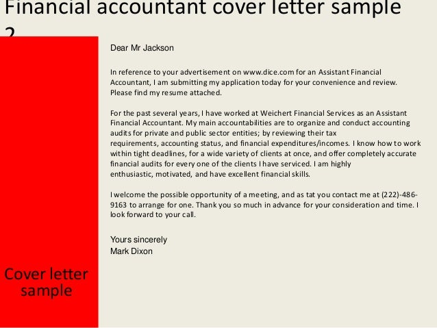 financial accountant cover letter