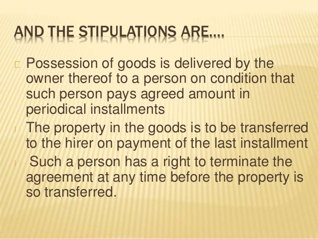 Hire Purchase System And Installment Purchase System