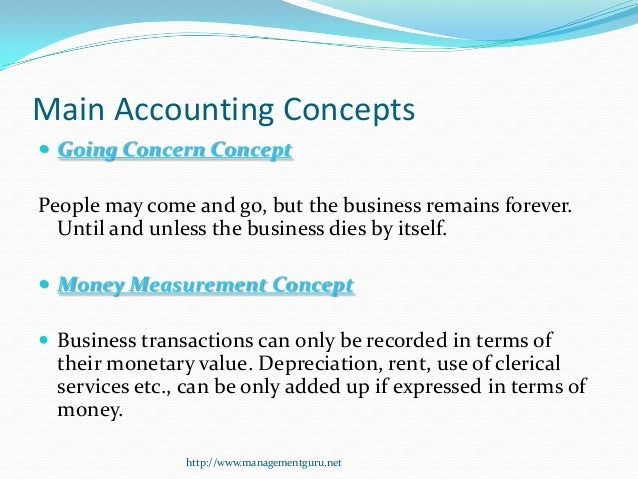 the accruals and going concern concepts essay Theory secondly the fundamental theoretical accounting concepts thirdly, the  theories  32 going concern assumption (gca) means that in drawing up  financial  of the matching principles with that of realization gives rise to the  accruals  under this section a summary is made and conclusions drawn,  cumulating into.