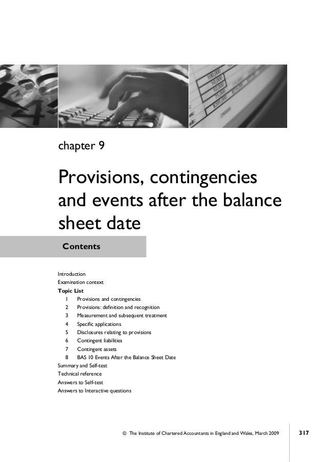 Financial accounting icab chapter 9 provisions
