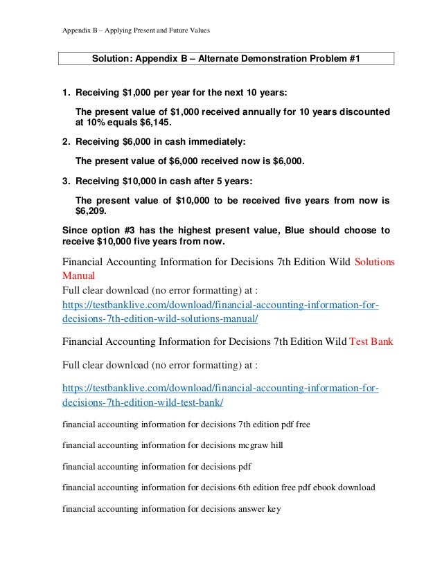 Accounting test banks and solution manuals ebook ebook solution manual powerpoint test bank array financial accounting information for decisions 7th edition wild solut u2026 rh slideshare net fandeluxe Gallery