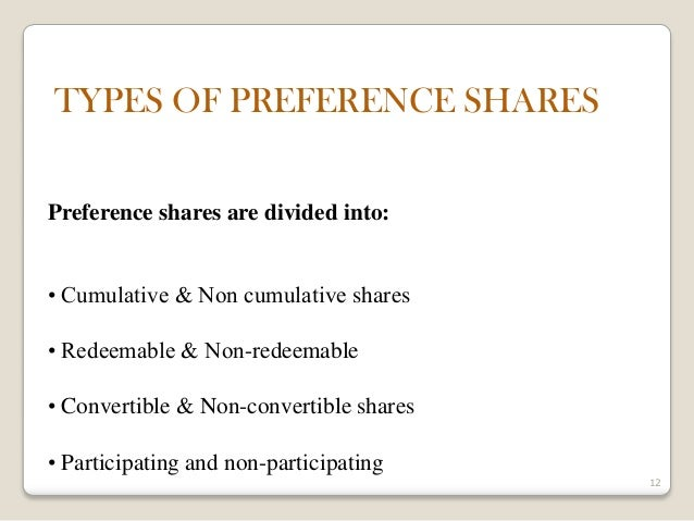 Accounting For Redeemable Preference Shares