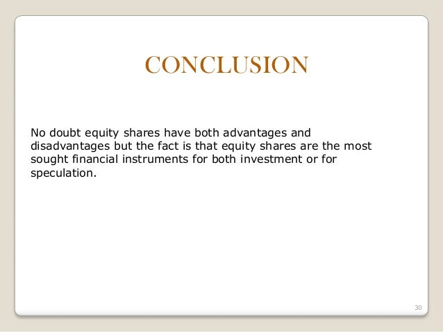 Accounting For Investment In Shares