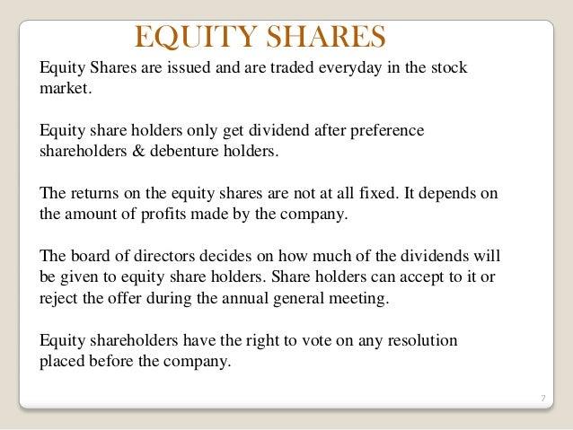 Equity vs Stock Option -