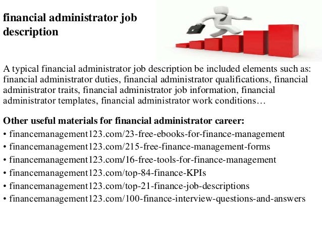 Financial Administrator Job Description
