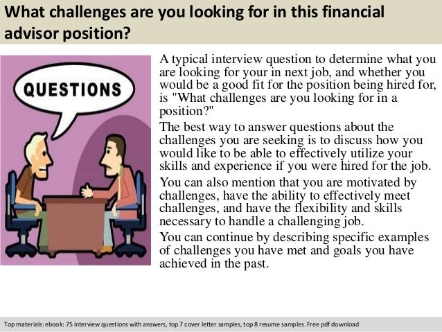 financial advisor interview questions