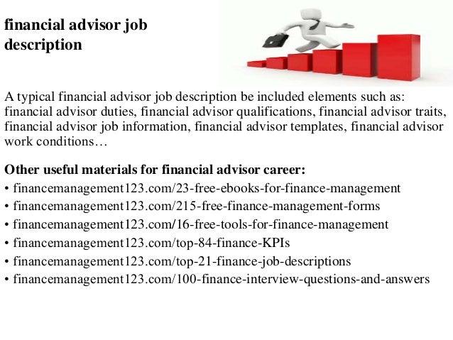 Elegant Financial Advisor Job Description A Typical Financial Advisor Job  Description Be Included Elements Such As: ...