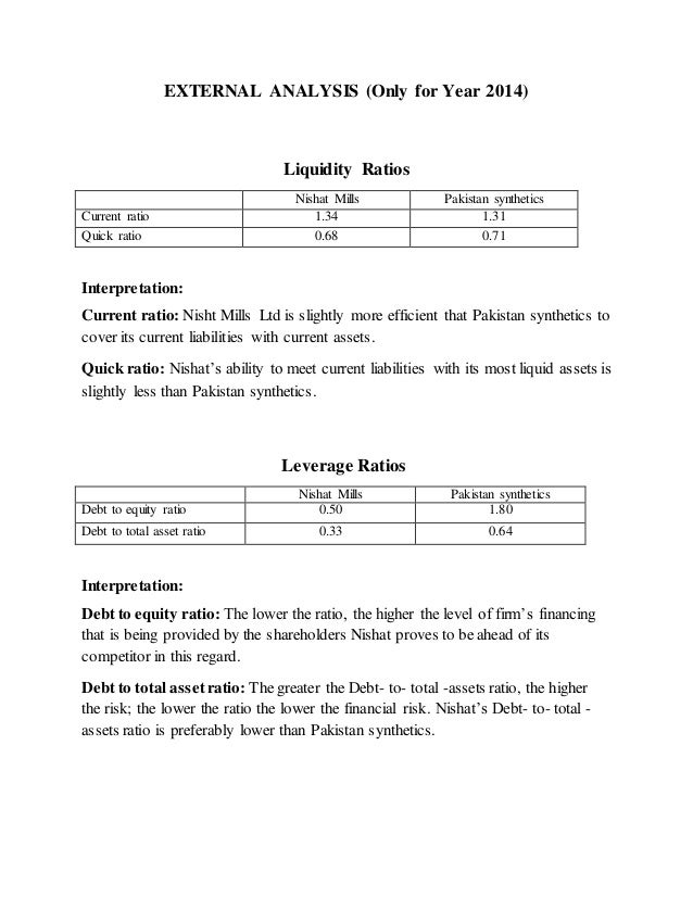 ratio analysis of husain mills and Documents similar to nishat mills ratio analysis skip carousel carousel previous carousel next what do the good desks do financial position of nishat mills limited.
