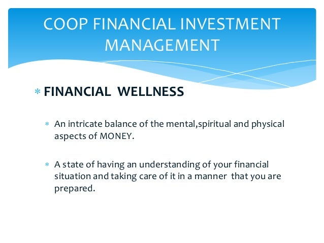 Investment and financial management