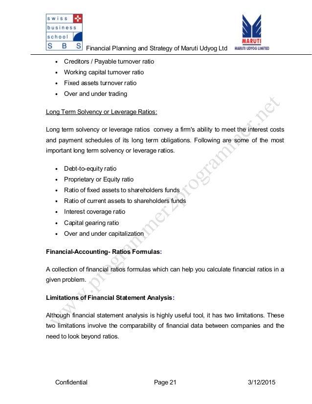 an analysis of maruti udyog limited 23112013 maruti udyog ltd market value weighted average cost of capital  measurement of cost of capital of maruti udyog ltd: an empirical analysis (december.