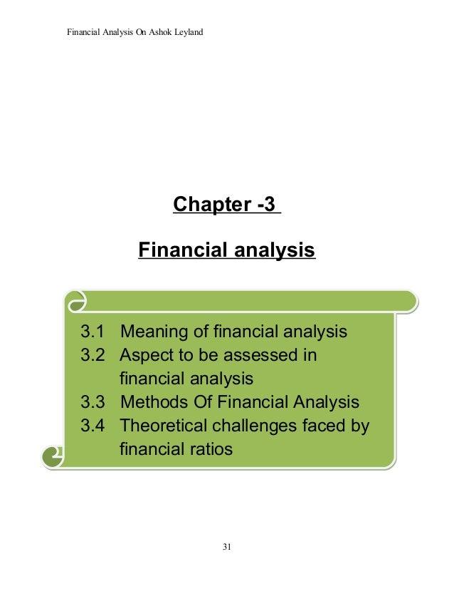 Ashok leyland financial analysis
