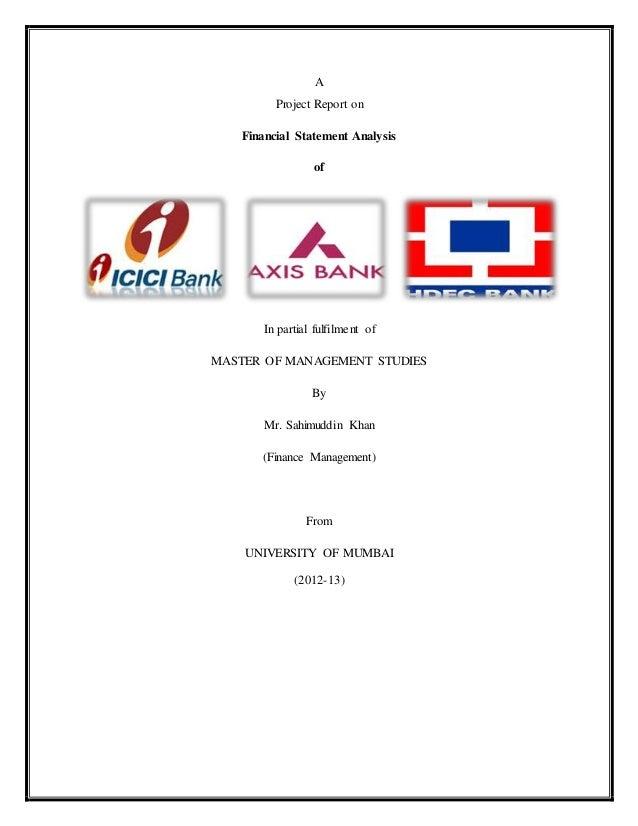 Financial analysis of banks