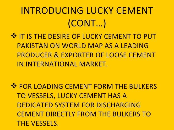 pest analysis of lucky cement Wwwwapspotco.