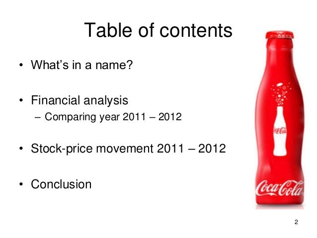 financial analysis coca cola Key financial ratios for coca-cola bottling co consolidated (coke) - view  income statements, balance sheet, cash flow, and key financial ratios for coca- cola.