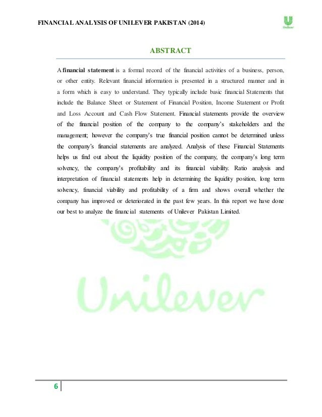unilever finance exploration essay