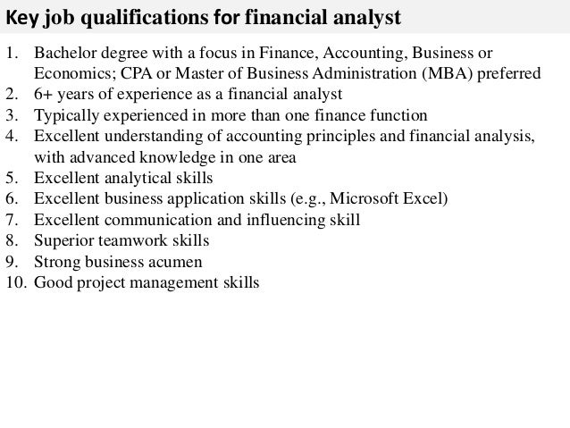 financial analyst job description - Job Description Of Business Administration