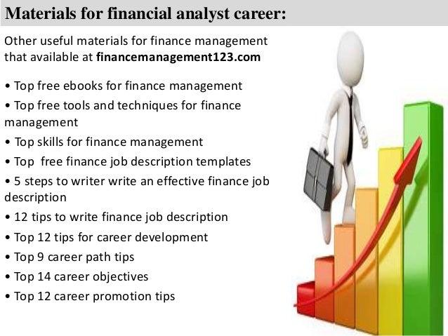 Financial analyst job description