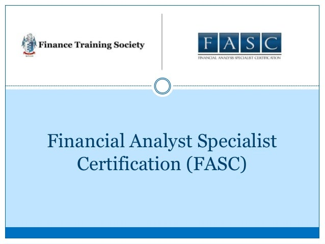 Financial Analyst Certification