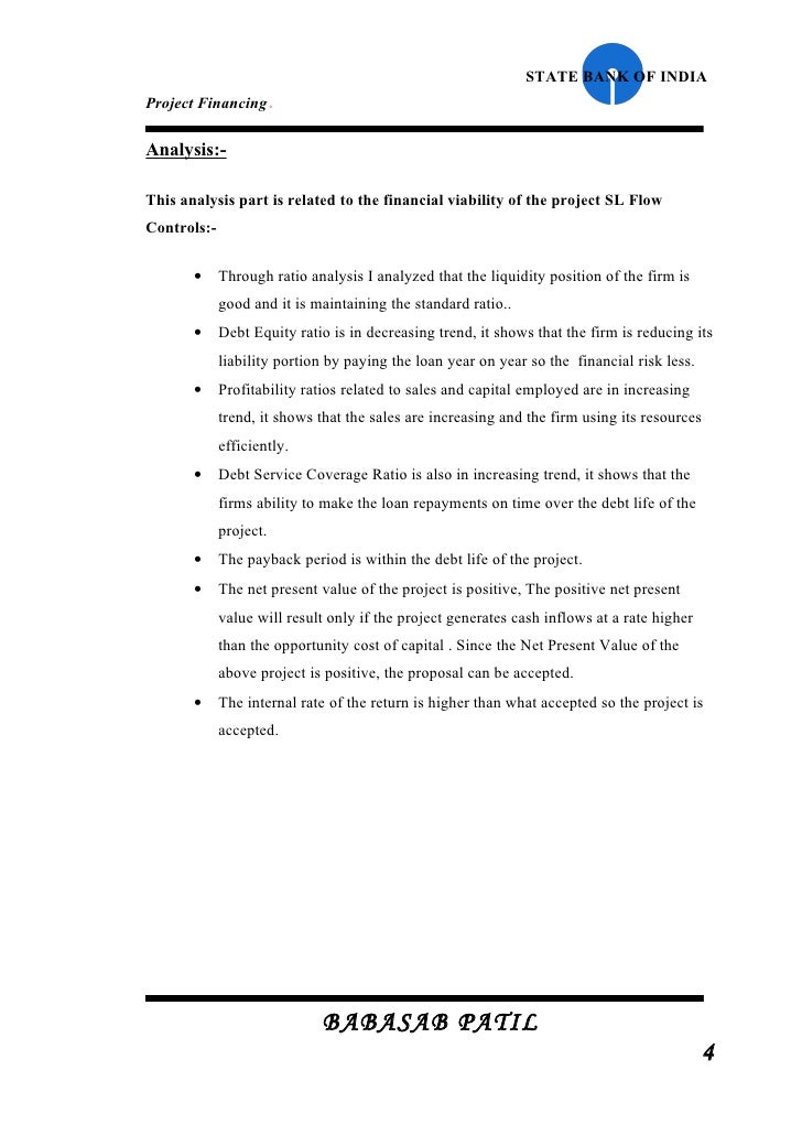 Project Report on the State Bank of India (SBI)