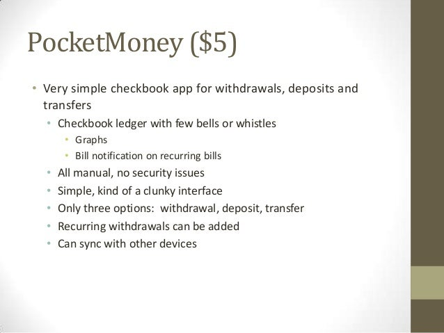 11 pocketmoney 5 very simple checkbook app