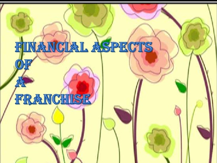 FINANCIAL ASPECTS OF A FRANCHISE<br />