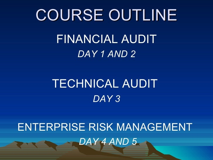 financial reporting course outline