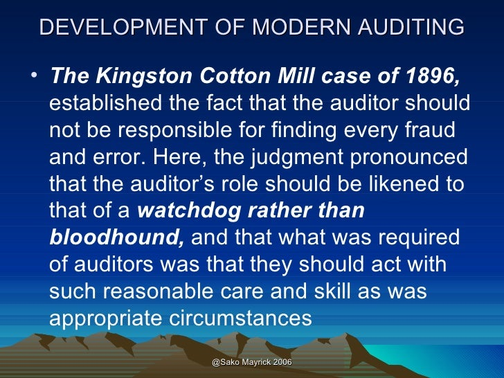 REASONABLE CARE AND SKILL — THE MODERN SCOPE OF THE AUDITOR'S DUTY