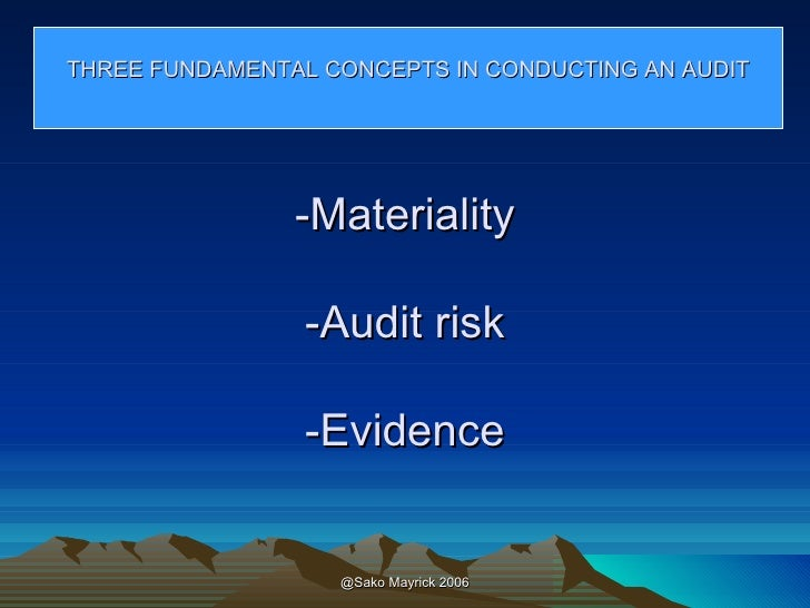Aspects of materiality a continuing education report