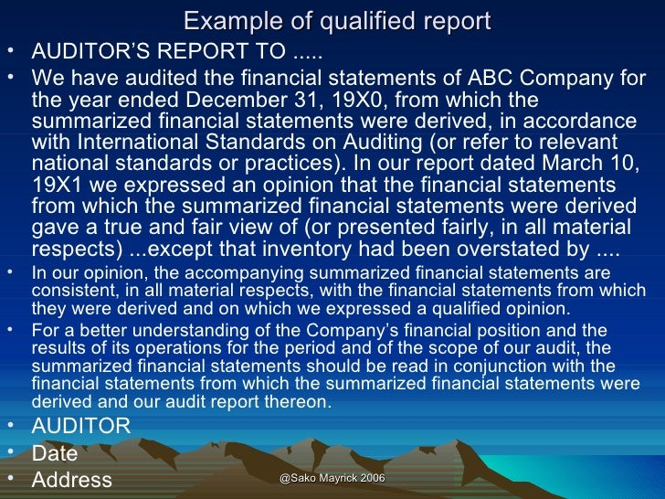 auditing understanding the auditor s report Whether those representations are contained in the auditor's report or otherwise audit an experienced auditor has a reasonable understanding of audit.