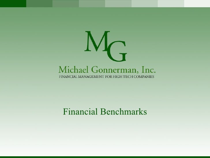 Financial Benchmarks