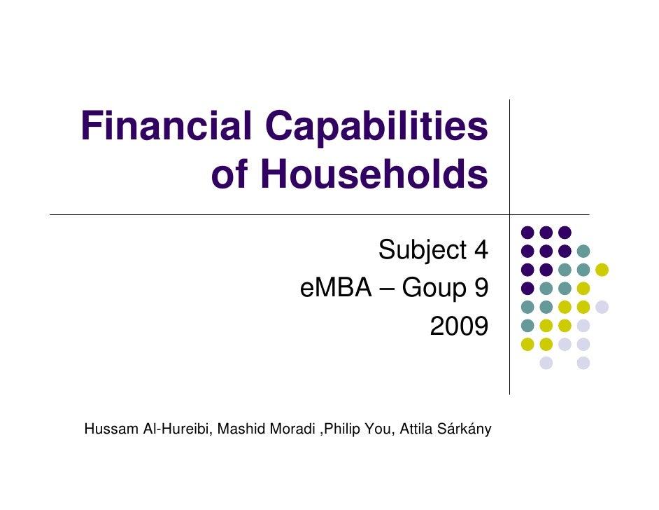 Financial Capabilities       of Households                                     Subject 4                                eM...